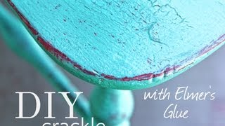 Crackle Paint, And Distress Your Furniture With Elmer's Glue And Cece Caldwell Paint!