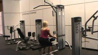 LIFE FITNESS OPTIMA SERIES LAT ROW / OSLR