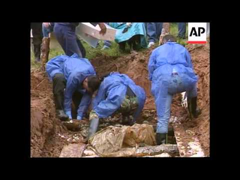 Bosnia - Mass Graves Exhumed