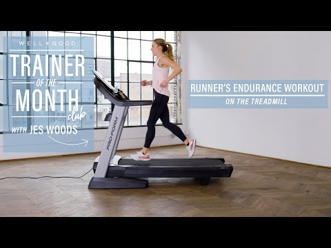 Runner's Endurance Workout on the Treadmill | Trainer of the Month Club | Well+Good