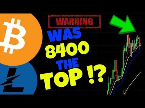 🌟BITCOIN WAS 8400 THE TOP?🌟 bitcoin litecoin price prediction, btc ltc news
