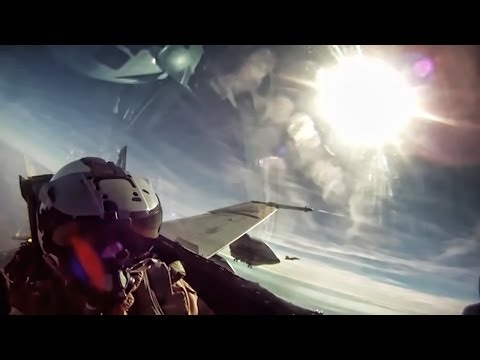 F/A-18 Fighter Jet Mission Over The Outback - Cockpit View