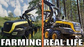 LEŚNICTWO - FARMING SIMULATOR 19 VS REAL LIFE!!!
