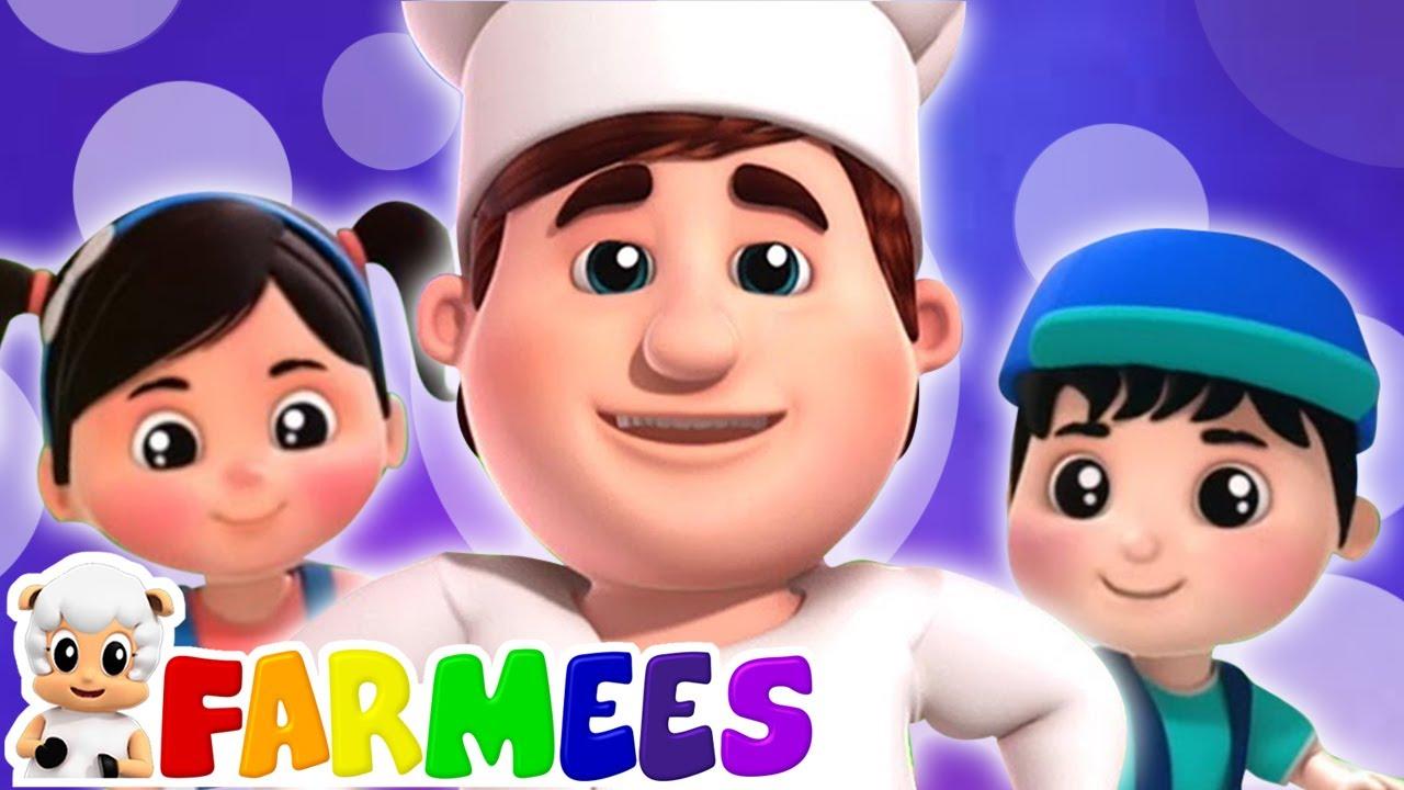 O homem bolo | Canção infantil | Musica para bebes | Farmees Português | Desenhos animado