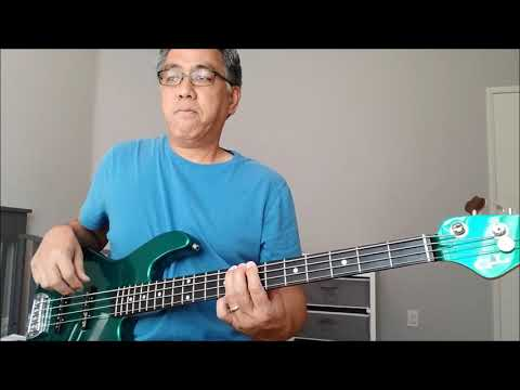 the drop to d lever on my g - l bass guitar- (careless whisper)