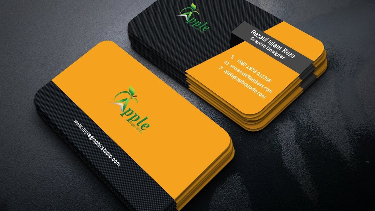 How to design a professional business card in photoshop youtube how to design a professional business card in photoshop colourmoves Image collections