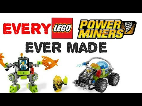 Every LEGO Power Miners Sets And Polybags EVER Made