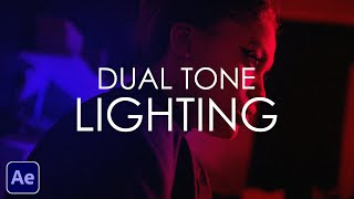 After Effects Tutorial | Dual Tone Lighting Effect | RGB Lighting