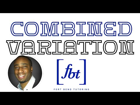 Combined Variation - How to Solve Variation Problems: Part 4 [fbt]
