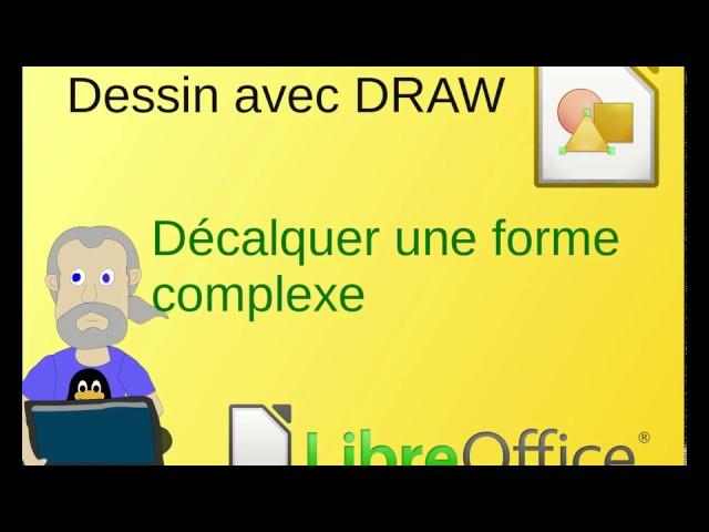 Décalquer une image avec LibreOffice Draw: préparer le travail