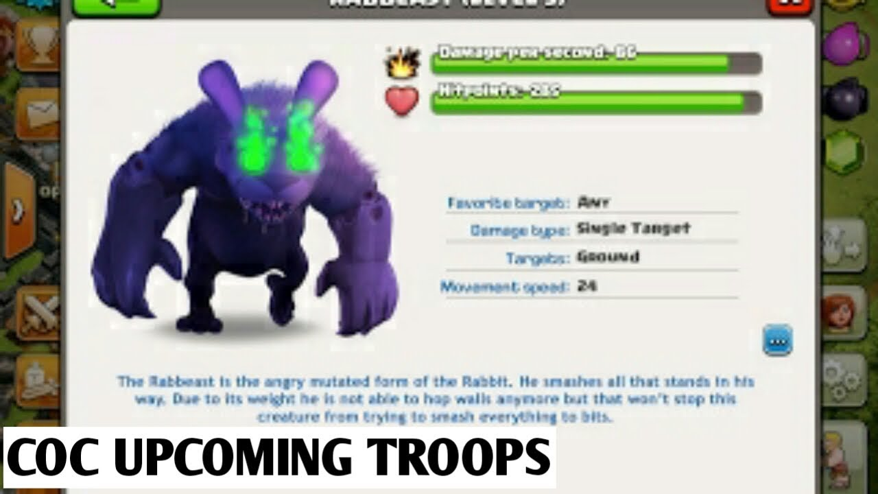 2018 Upcoming Clash of Clans NEW troops(new update)