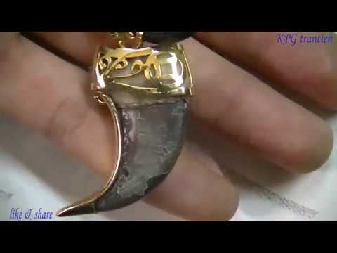 Make 18k gold craft for bear nails