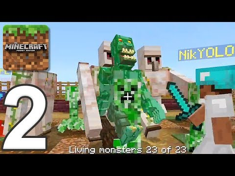 Minecraft: Servers - Gameplay Walkthrough Part 2 - Zombie Apocalypse (iOS, Android)