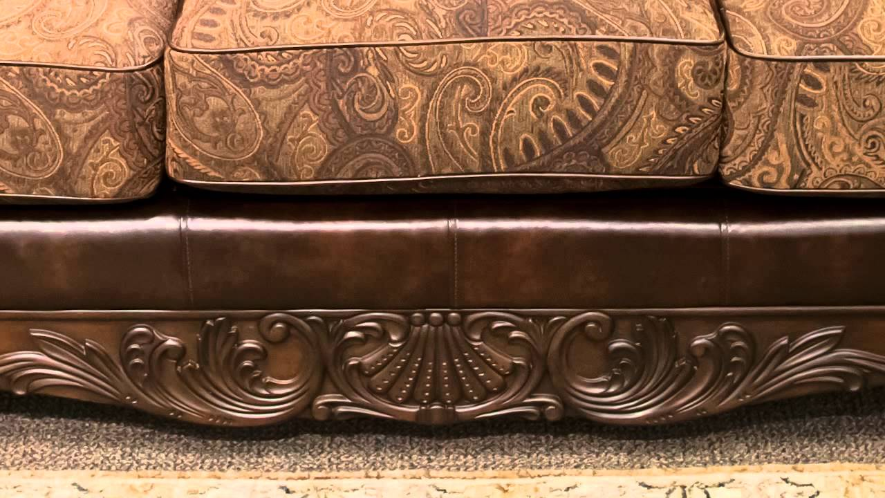 ashley furniture sofas cottage lane sofa table fresco antique - youtube