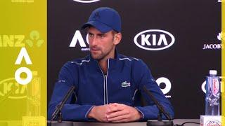 Novak Djokovic press conference (2R) | Australian Open 2018