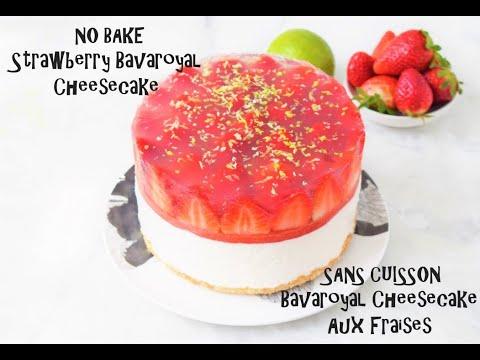 amazing-no-bake-strawberry-bavaroyal-cheesecake---sans-cuisson┃chef-cyril-rouquet-prévost