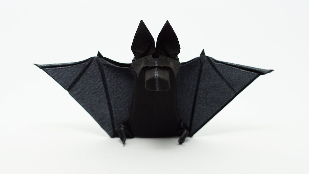 origami bat tom defoirdt halloween youtube