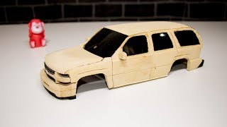 How to Make RC Chevrolet tahoe 2005 From MDF Wood . part 1