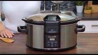 Crock-Pot® Lift & Serve Locking Hinged Lid 6-Quart Oval Slow Cooker