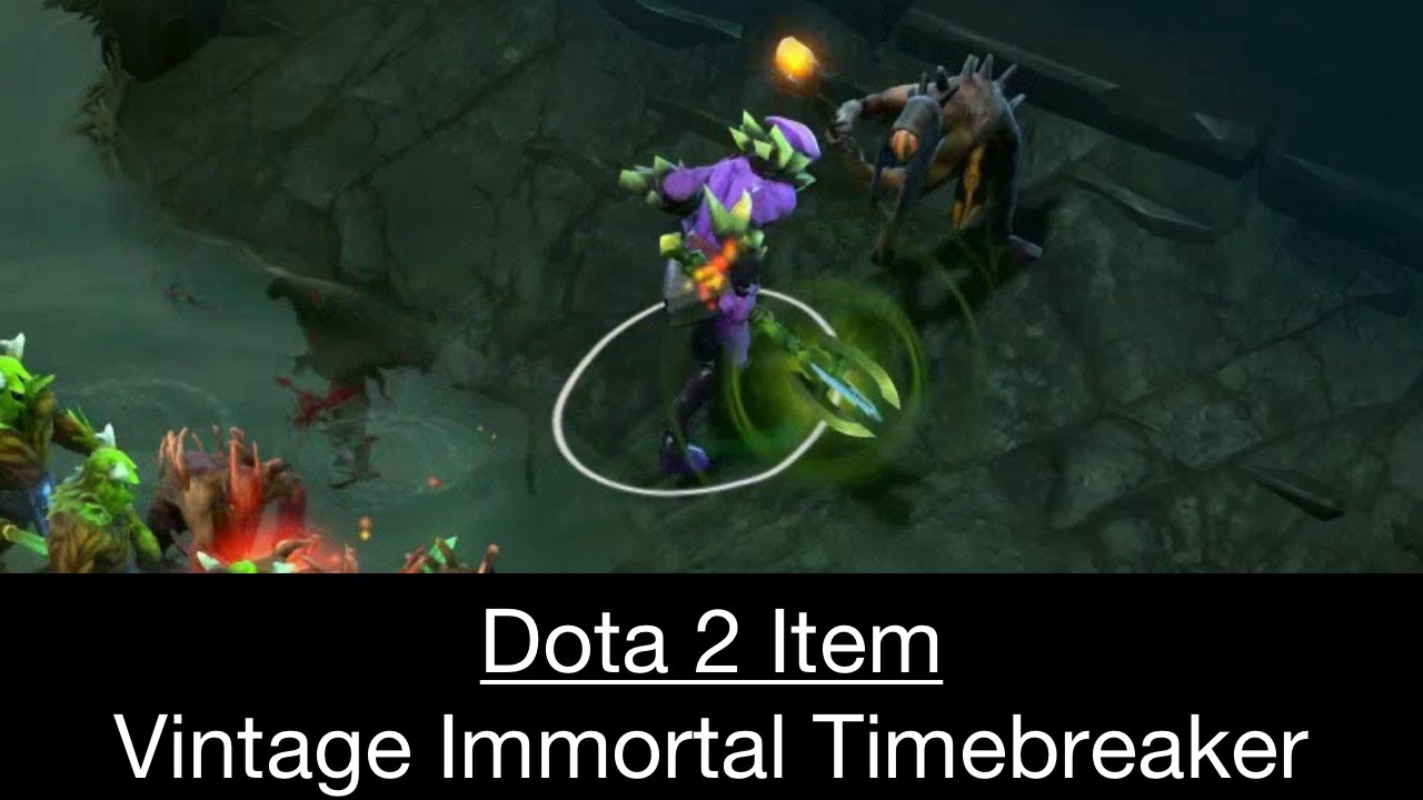 Dota 2 Immortal Items And Player Cards Released: Dota 2 Item: Vintage Immortal Timebreaker (Faceless Void