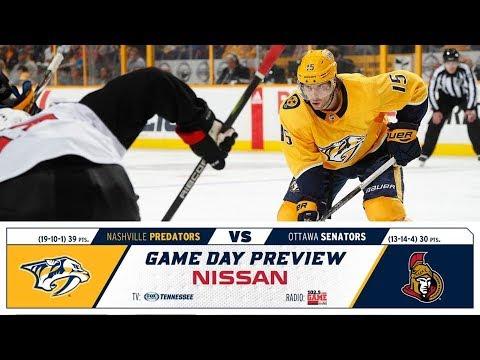 NHL 19 PS4. REGULAR SEASON 2018-2019: Ottawa SENATORS VS Nashville PREDATORS. 12.11.2018. (NBCSN) !