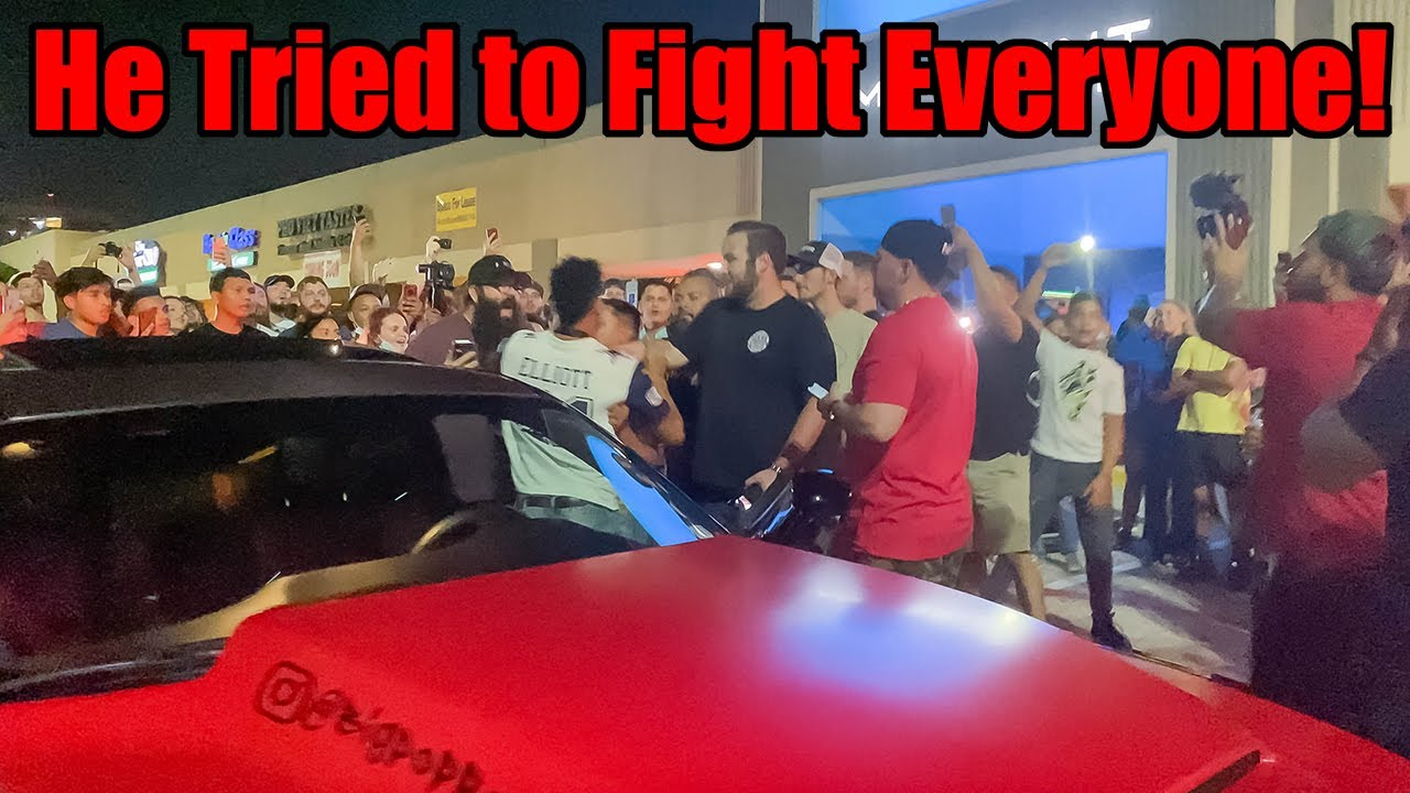 ANGRY Hellcat Owner Tries to FIGHT HUGE CROWD at my Car Meet! (VR + Vehicles Car Meet #2!)