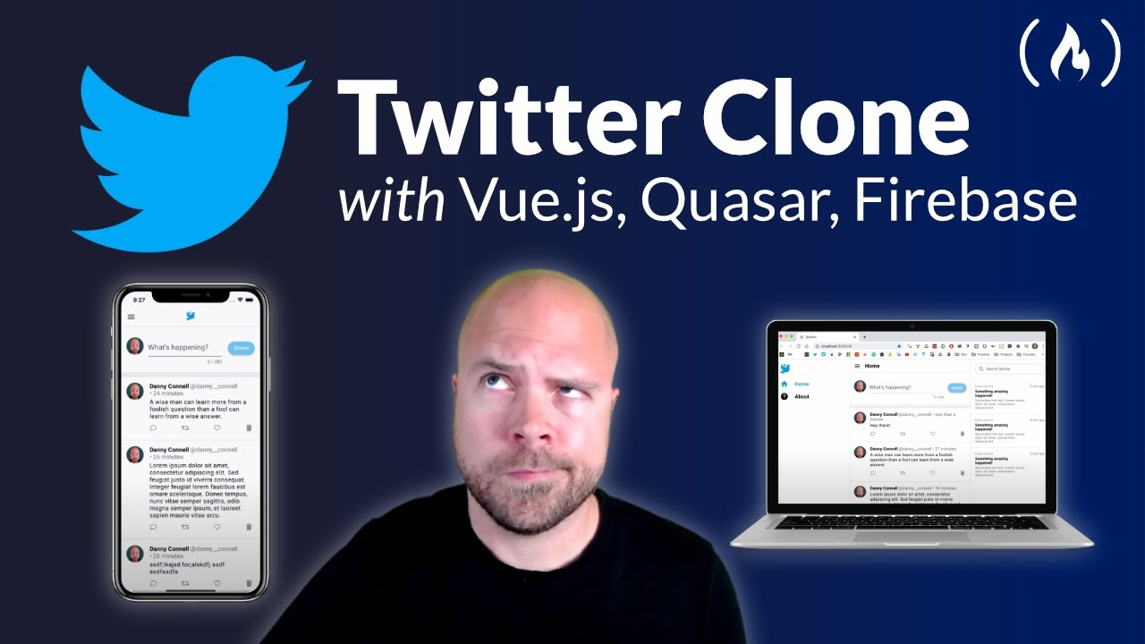 Create a Twitter Clone with Vue.js, Quasar Framework & Firebase for iOS, Android, Mac & Windows