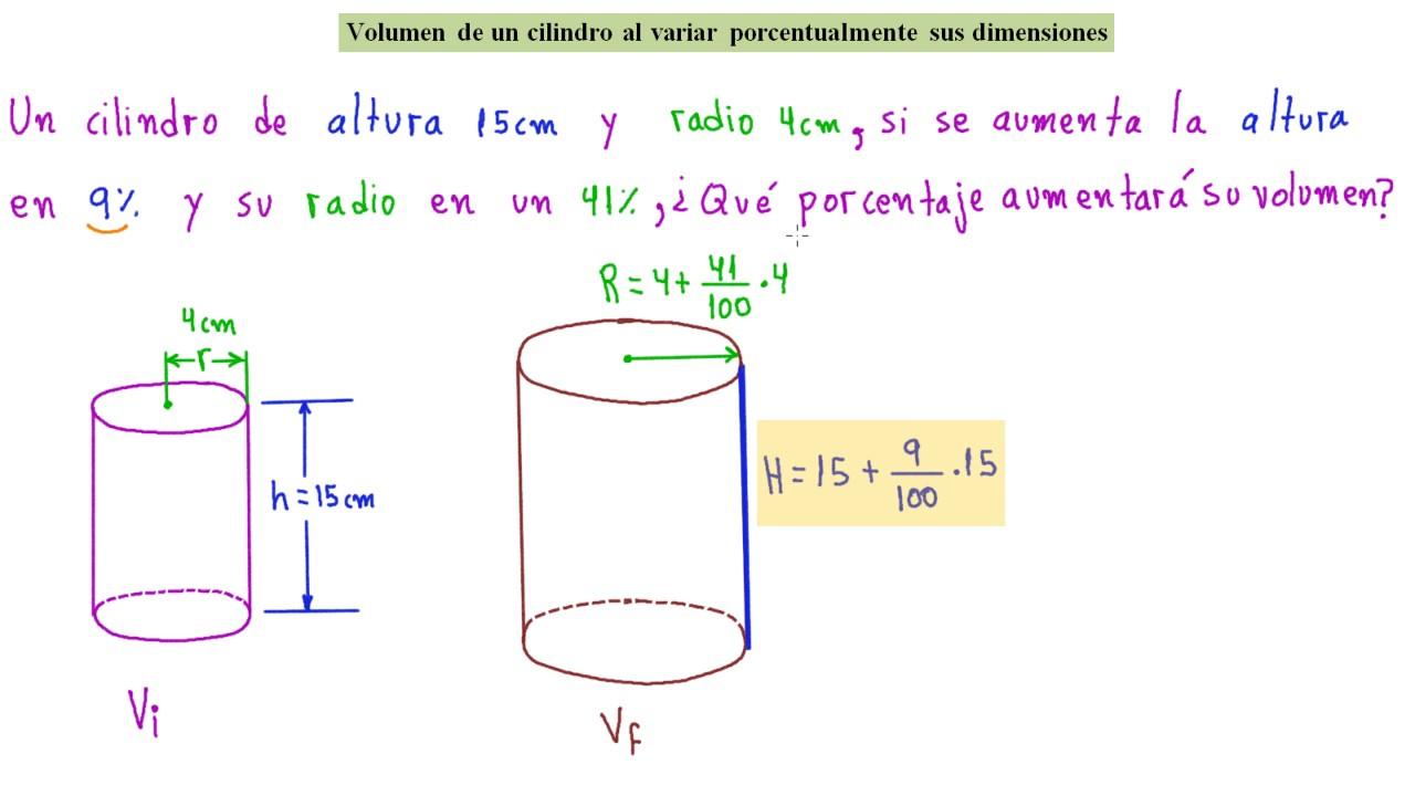 Calcular Volumen Un De Cilindro