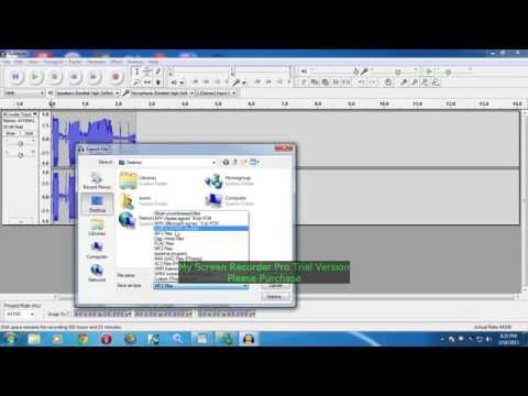 How to change audacity file to mp3 file