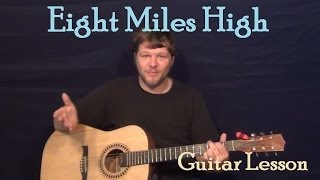 Eight Miles High (The Byrds) Easy Guitar Lesson How to Play Tutorial