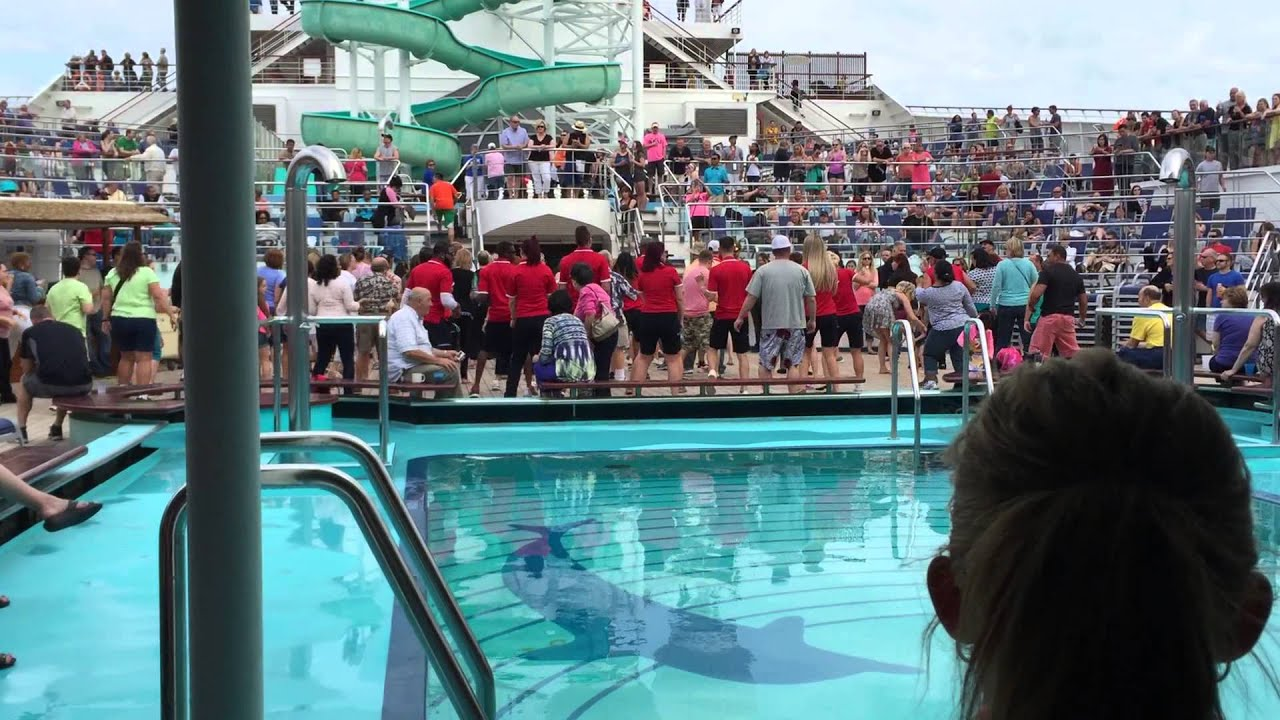 FUN on the lido deck on the Carnival Glory - YouTube