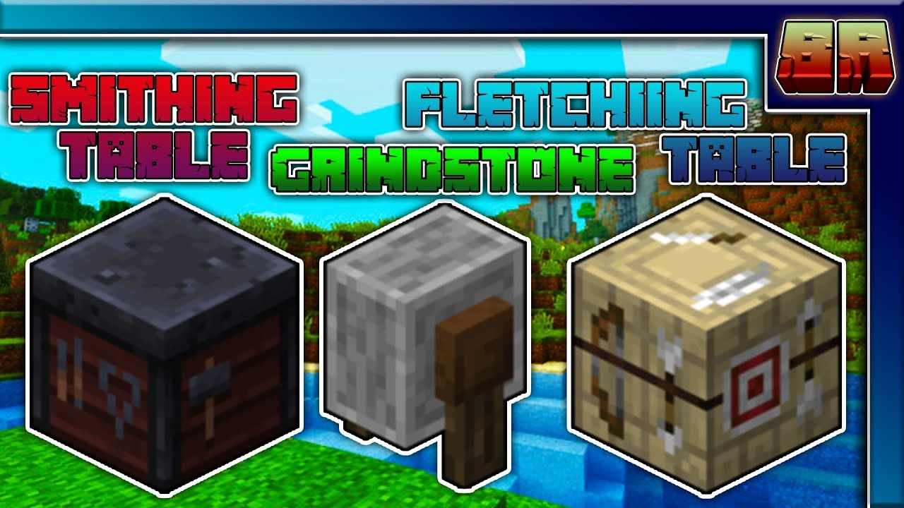 Smithing/Fletching Table-Grindstone {Block Review Ep2} MCPE-Bedrock