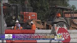 Construction at Buena Vista Road and White Lane through Aug. 10