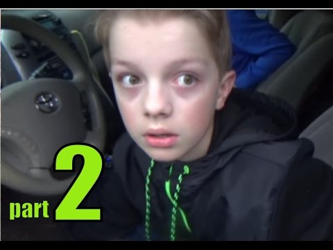 PSYCHO 12 YEAR OLD KID STEALS CAR, SMASHES TV, PART 2 OF 3!!!