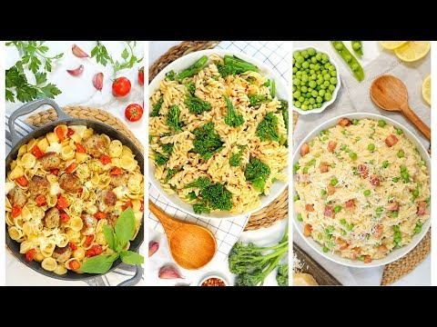 3 EASY Pasta Recipes | Quick + Delicious Weeknight Dinner Recipes