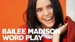 Bailee Madison Play's RAW's Word Play