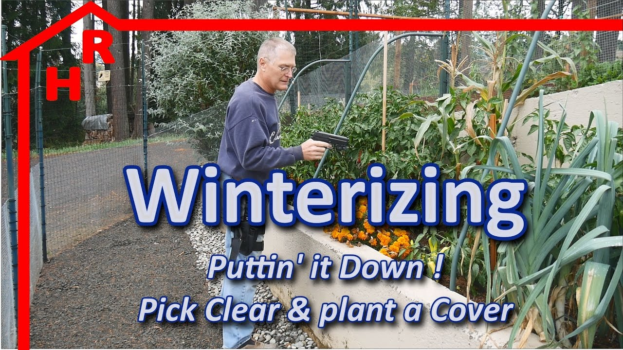 garden winterizing putting it down with a cover youtube