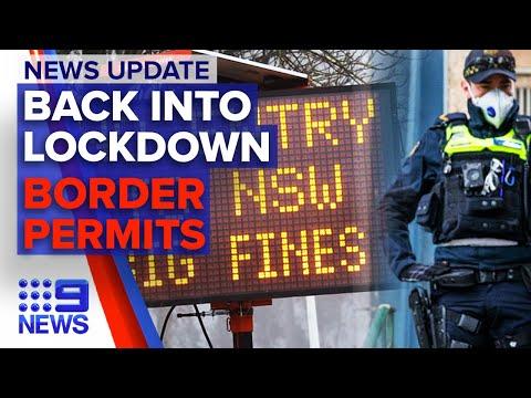 Victoria Faces Tougher Restrictions, Border Residents Prepare For Closure | 9 News Australia