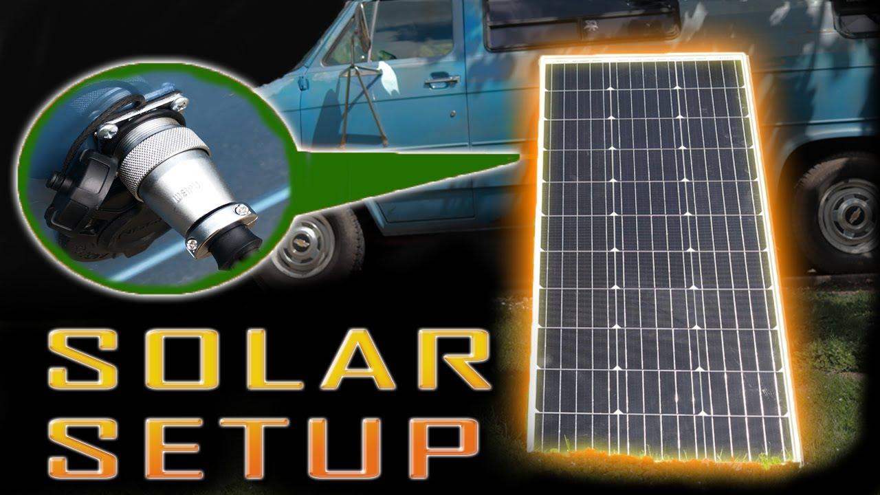 CAMPER VAN SOLAR SETUP/ INSTALL | Off Vehicle Panel