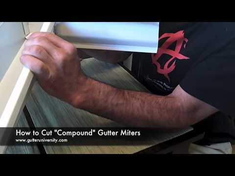 How To Cut A Compound Gutter Miter Youtube