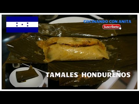 TAMALES HONDURE�OS COCINANDO CON ANITA