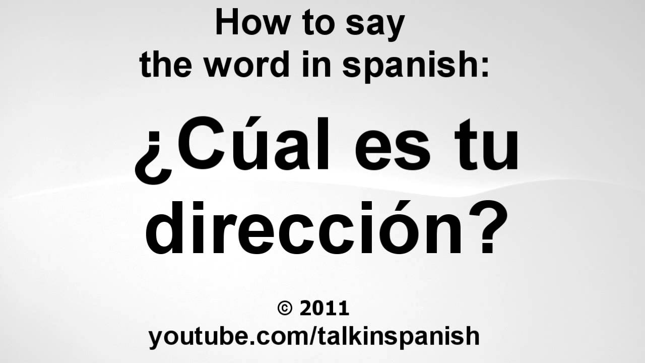 How Say Don T Spanish
