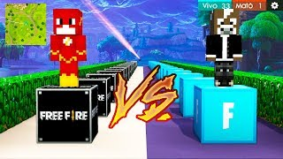 ¡FREE FIRE vs FORTNITE en LUCKY BLOCKS! 🔥 ¿CUÁL ES MEJOR? - MINECRAFT LUCKY BLOCK MOD