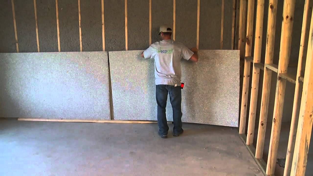 Ecocell blanket insulation youtube Basement blanket insulation