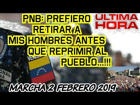 Policia Nacional: Prefiero Retirar A Mis Hombres Que Reprimir Al Pueblo VENEZOLANO Tras Protesta 2F