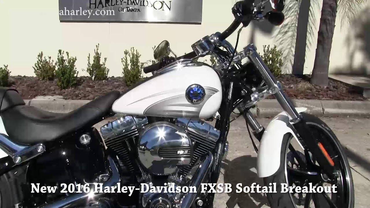 New 2016 Harley Davidson Softail Breakout White - YouTube