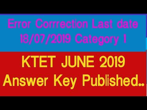 Kerala KTET answer key 2019 released on ktet kerala gov in