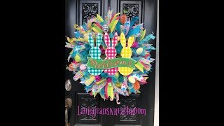 How to make an Easter Wreath  Laura Jeans Wreath Room