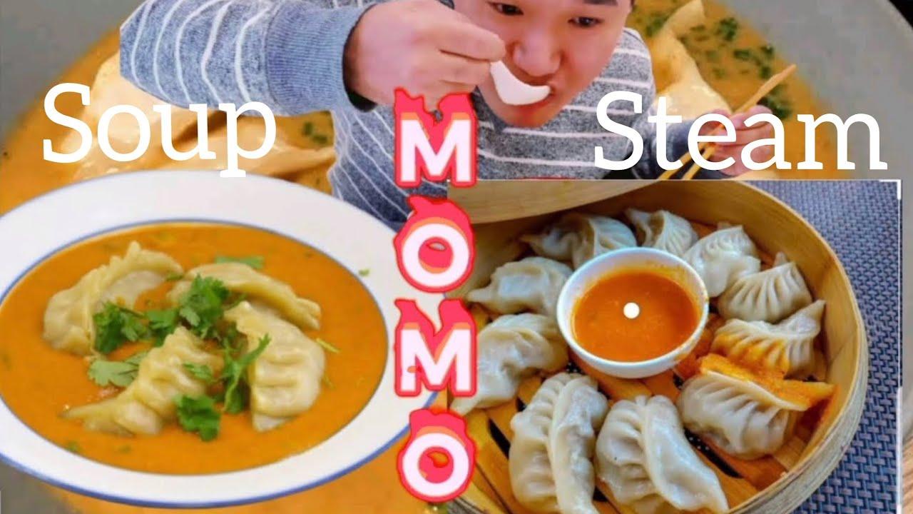 Download Momo Mukbang  「Nepali MoMo Mukbang」Pork and Chicken mixed dumplings with spicy chutney&soup