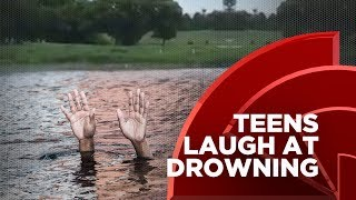 5 Teens Laugh At And Film A Disabled Man Downing In A Pond, Should They Be Charged With A Crime? Free HD Video